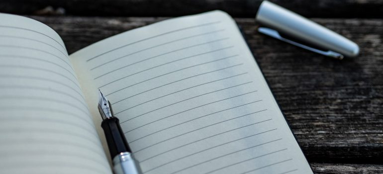 image of a notebook