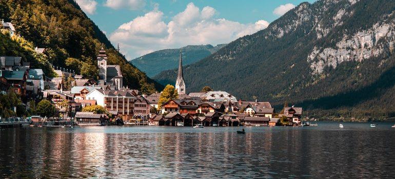 Austrian landscape.