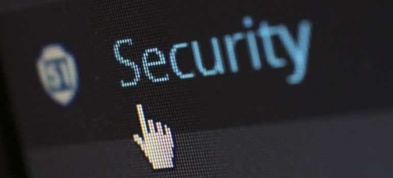 Security settings on dashboard