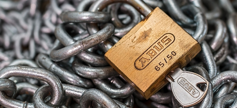 A padlock and a chain