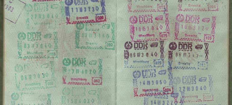 Opened passport