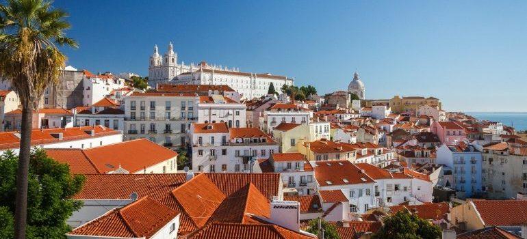 An aerial view of Lisbon.