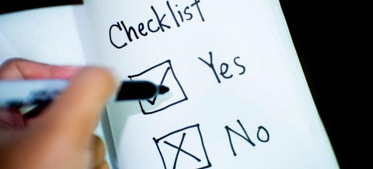A moving checklist.