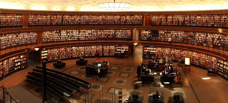 a large circular library