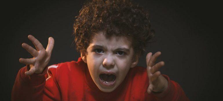 A screaming toddler.