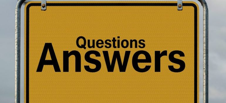 A questions and answers sign.
