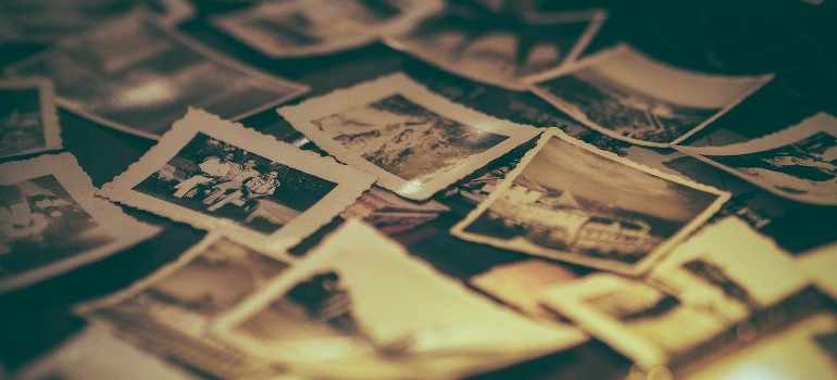 pile of old photos