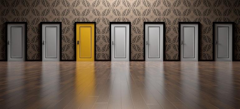 seven doors depicting different options