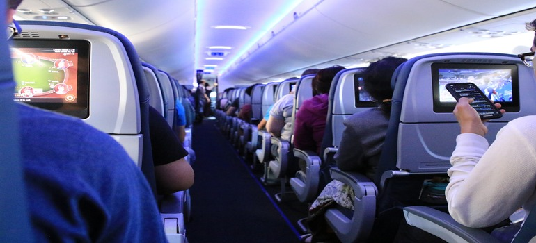 people on a airplane