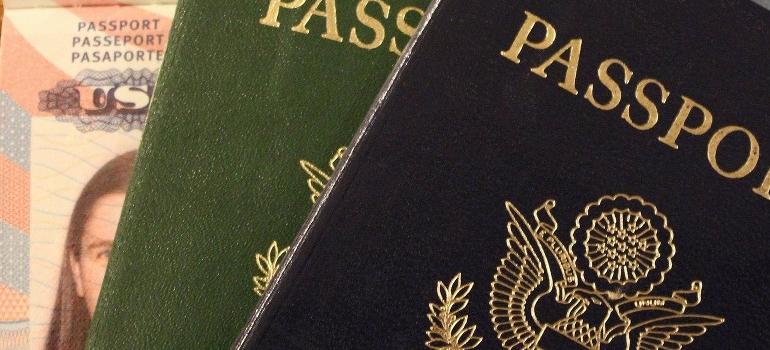 passports closeup
