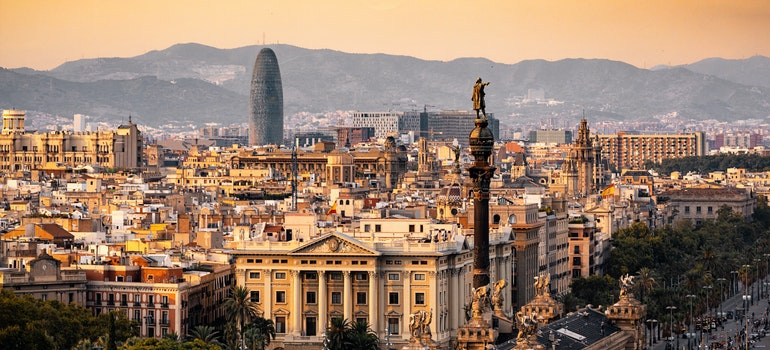 Aerial photo of Barcelona