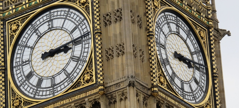 Big Ben tower clock