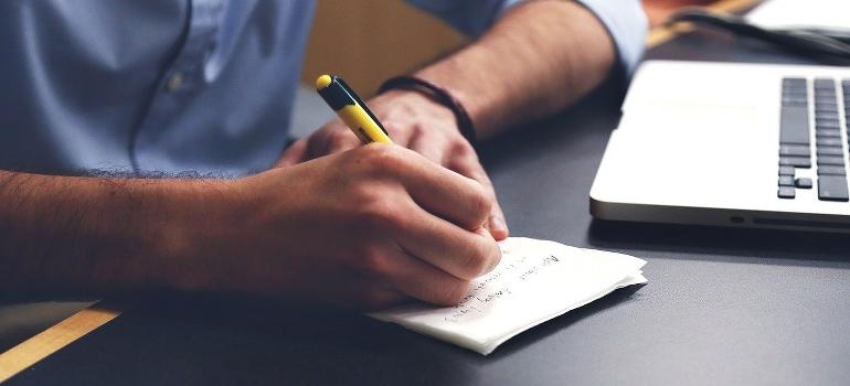 a man making a plan