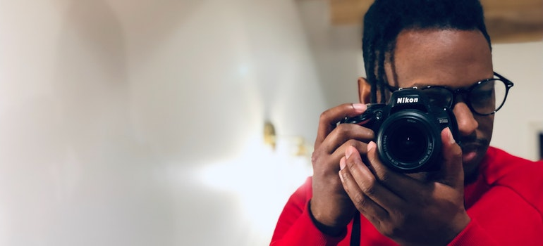 Guy taking a photo