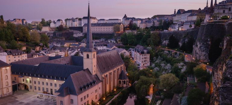 the areal view of Luxembourg