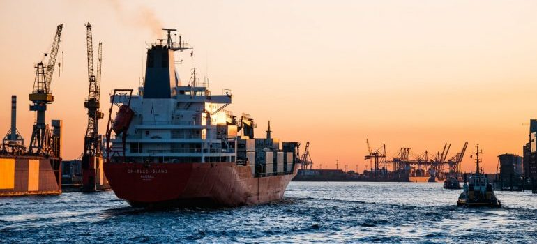 simplify packing for international shipping in the shipping boat on water