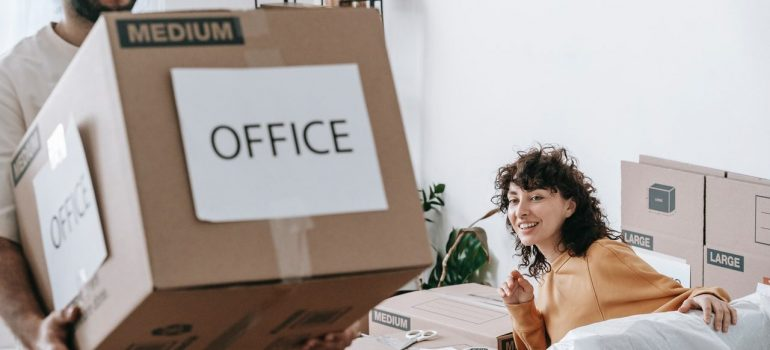 moving your office or warehouse items overseas