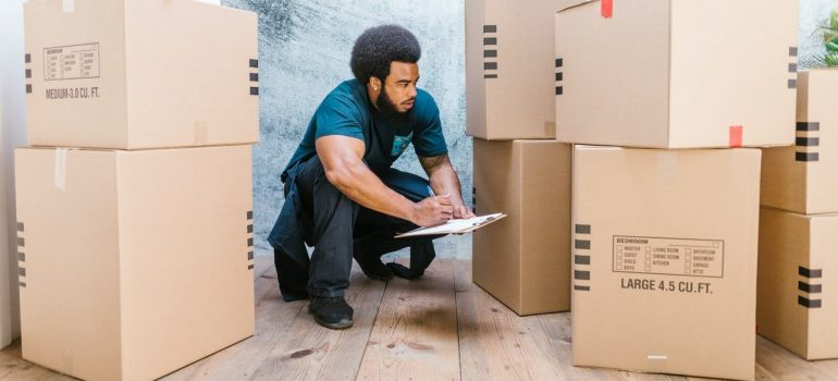 a mover downsizing home before moving