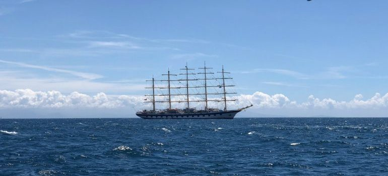 One way of sea transportation