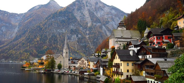 an Austrian village on the lake
