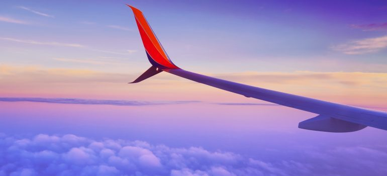 wing from the airplane