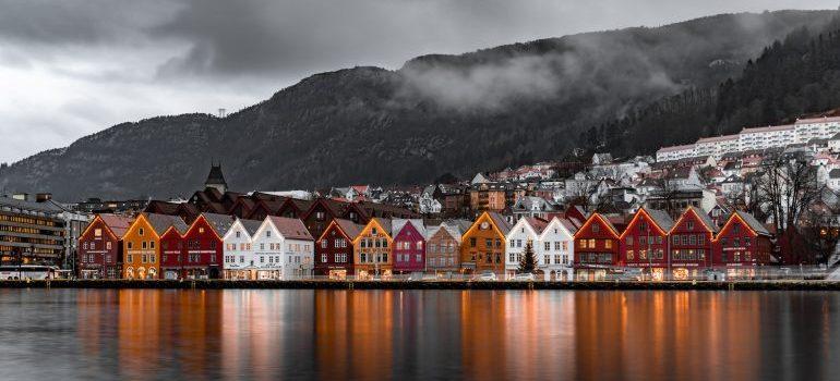 One of the beautiful neighborhoods in Norway