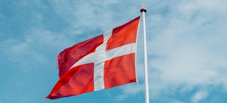 the flag o Denmark