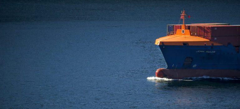 a ship transporting cargo